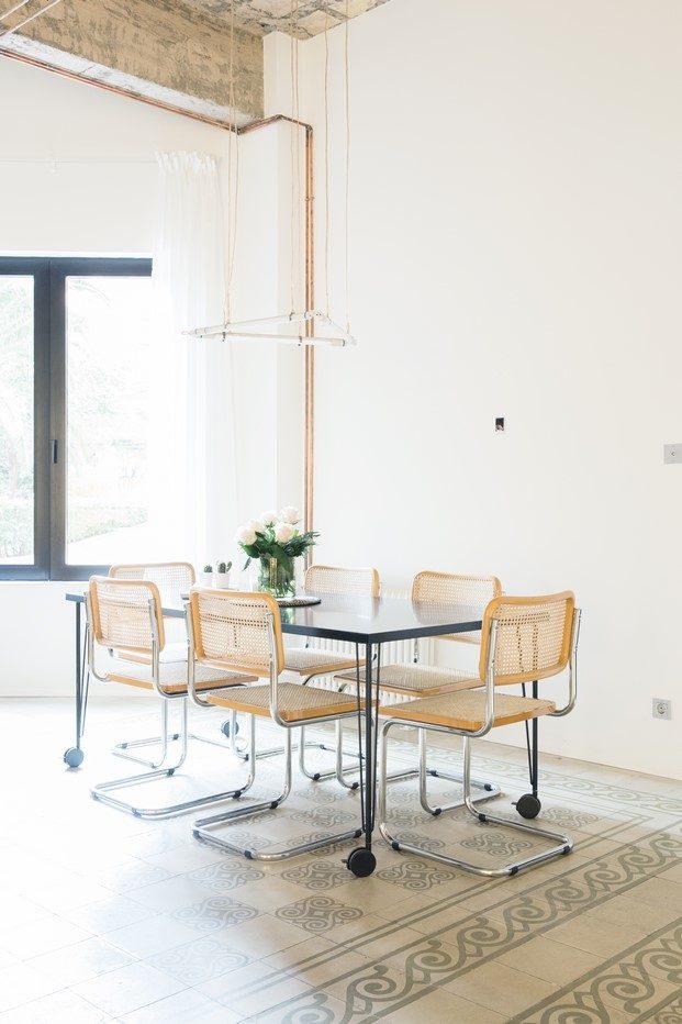 sillas cesca diseño de marcel breuer vivienda estudio en Valencia