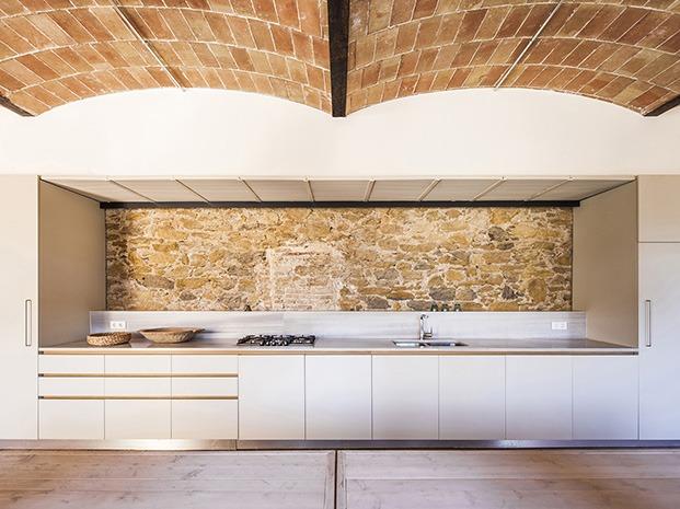 Vista de la nueva cocina en la planta baja