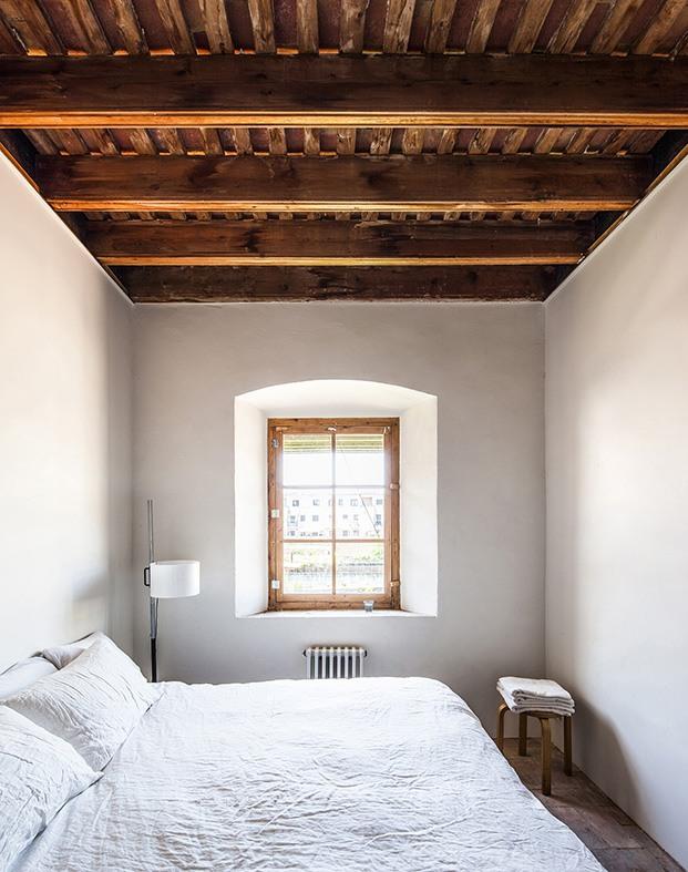 Detalle de uno de los dormitorios de la vivienda