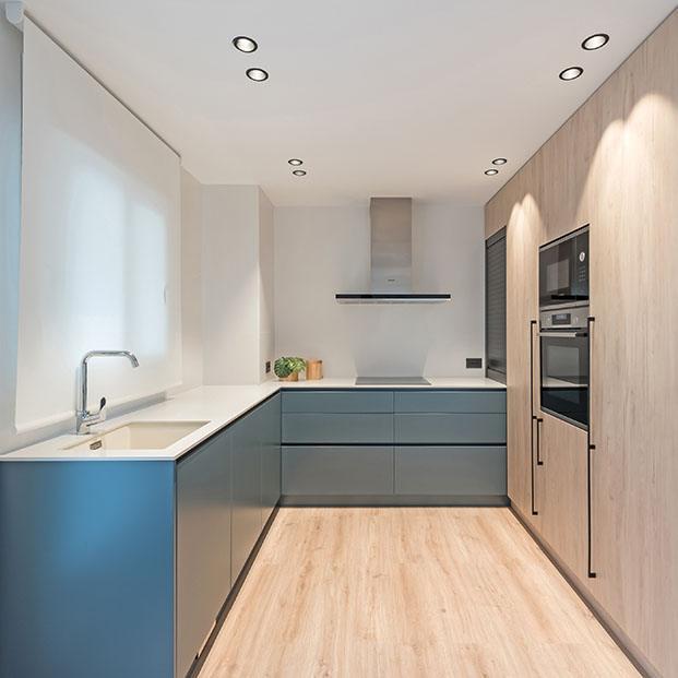 la cocina sencilla y funcional