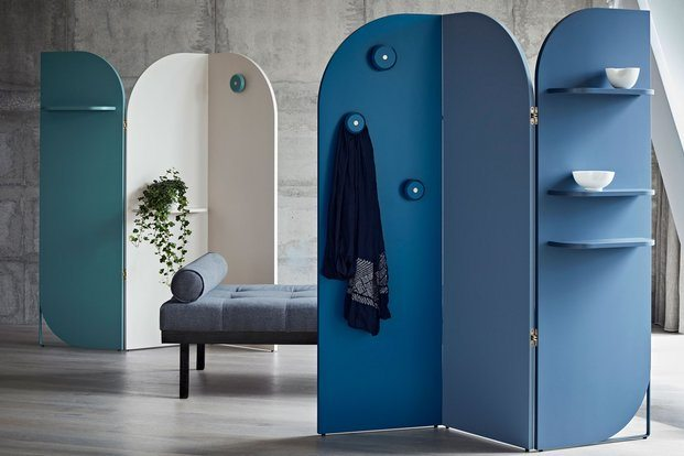Biombo de diseño moderno azul