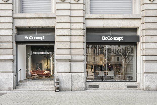 BoConcept. Fachada local en la Avenida Diagonal