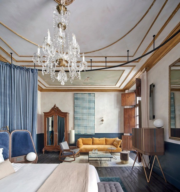 Las  habitaciones con muebles de diseño de Ohlab, piezas antiguos y otras artesanas