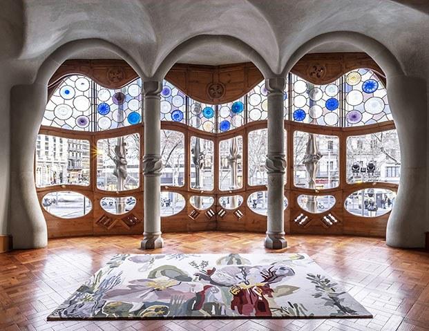 Alfombra nanimaquina en Casa Batlló