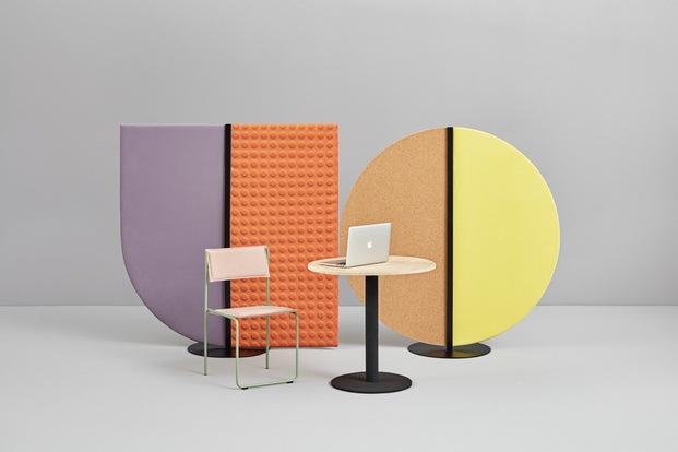 Paneles acústicos modernos de colores. Missana. PerezOcando