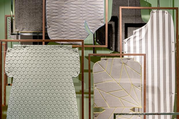Detalle de los patrones Espacio Telar Interior de EstudiHac para Sunbrella en Casa Decor 2020