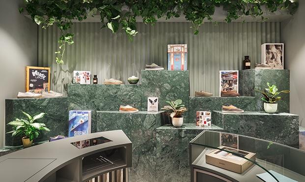 Zapatería Pompeii Valencia diseñada por El Departamento