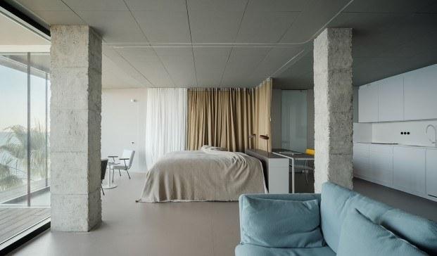Casas flexibles. Proyecto Una habitación mirando al mar, de Primitivo González