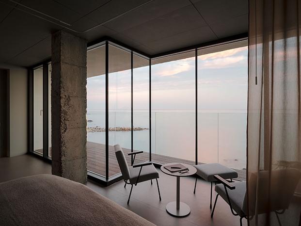 El mar es el protagonista absoluto de toda la vivienda