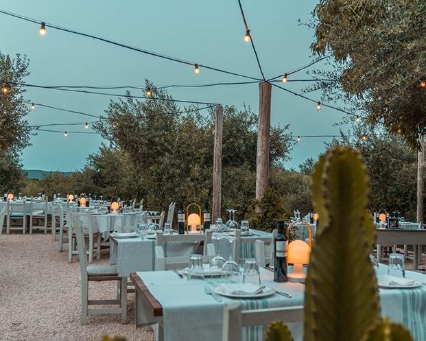 Una celebración de una noche de verano ha inspirado al proyecto que está iluminado con guirnaldas de bombillas