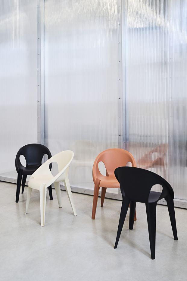 Silla de plástico reciclado Bell Chair. Magis