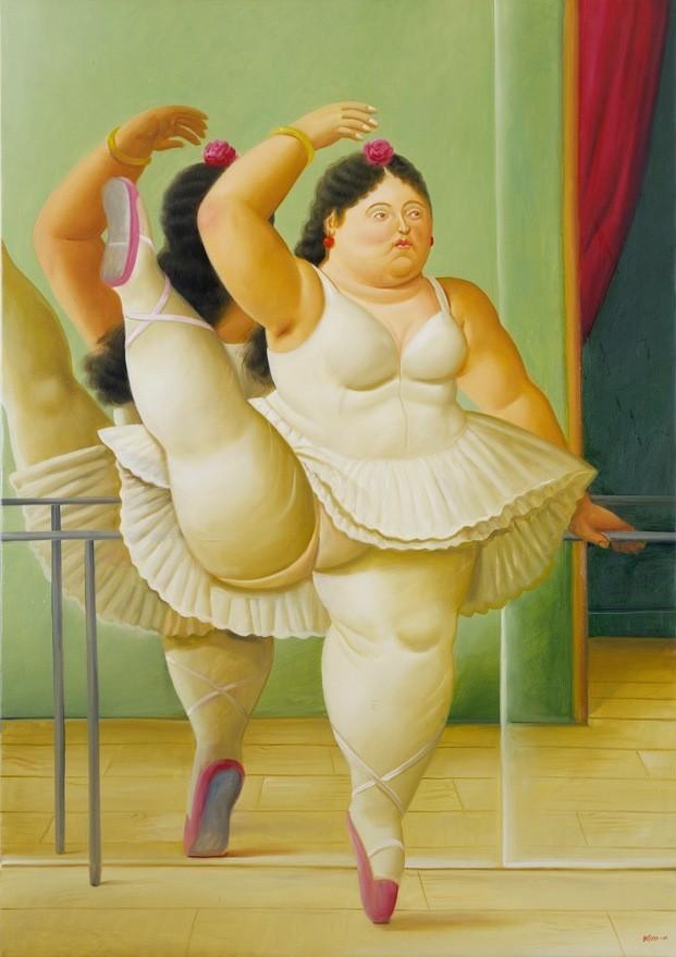 Botero. 60 años de pintura. Exposición en CentroCentro Madrid. Bailarina