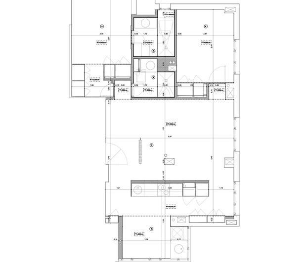 Plano de la vivienda que ha experimentado una reforma integral por MINIMO