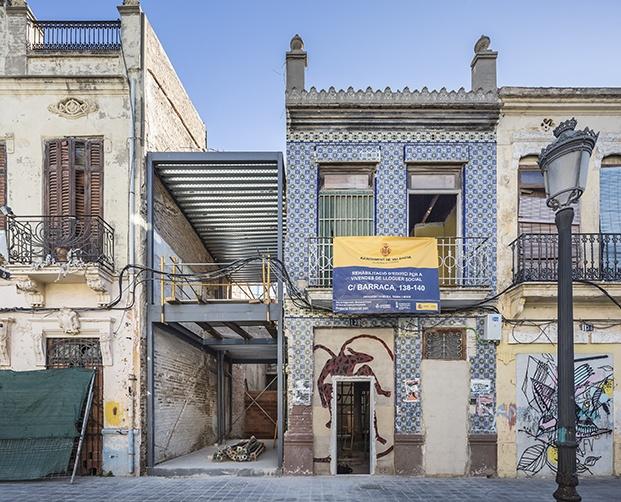 Casa-Taller El Cabanyal en Valencia. Obra de Teresa Carrau.