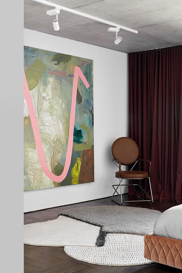 Detalle del dormitoiro principal de Shutter House
