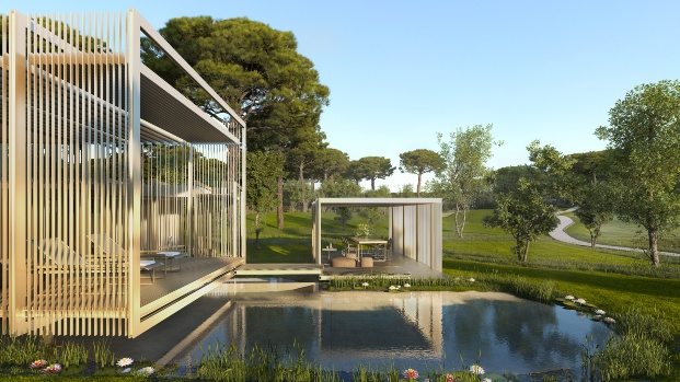 Casa modular L'Olivera 4 en PGA Catalunya Resort Caldes de Malavella de RCR Arquitectes.