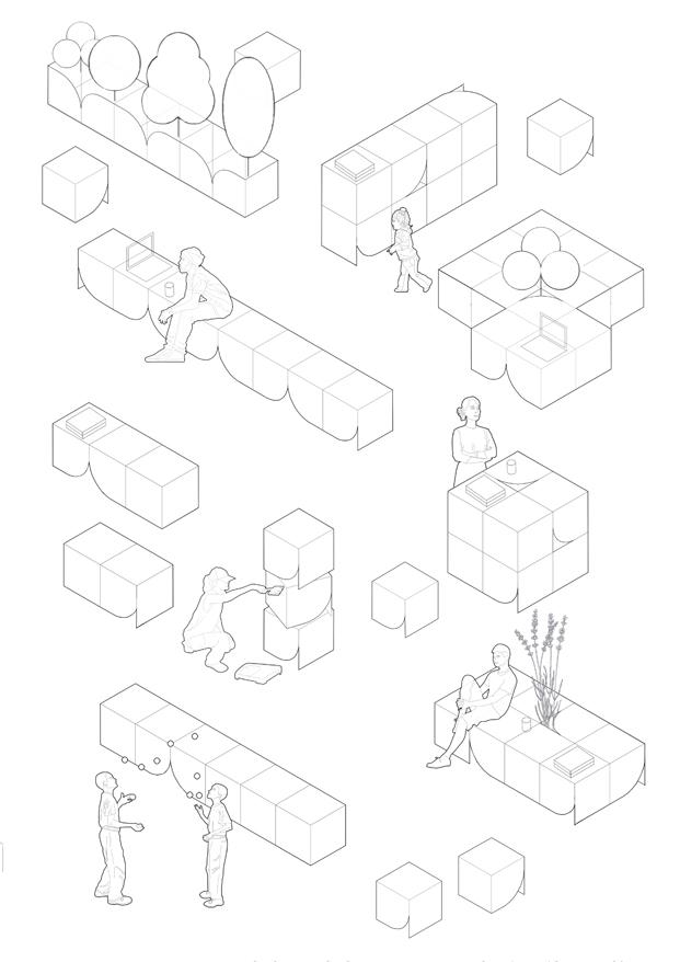 Lighthouse Tokyo. YSLA Architects. Miwa. Mueble modular