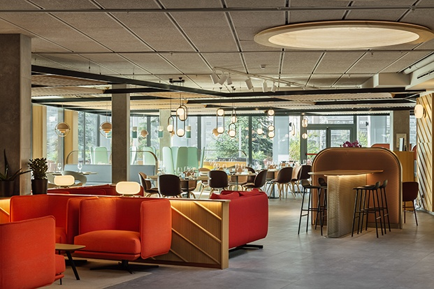 Todas las zonas comunes del hotel de Stone Designs en Madrid comparten espacio