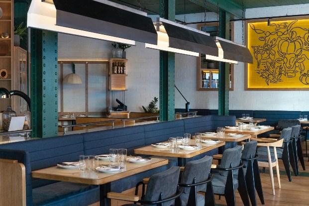 Restaurante Bobby's Gourmet BBQ en Bilbao de Tres Cinco Uno Creative Studio.