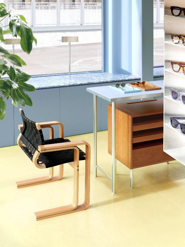 Tienda de gafas Cubitts en Brighton de Child Studio.