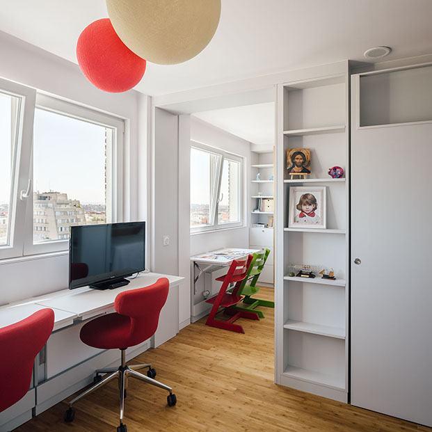 Vista de la zona de estudio de los cuartos infantiles