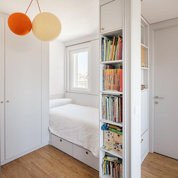 Los cuartos infantiles que pueden comunicarse  y aislarle mediante puertas correderas