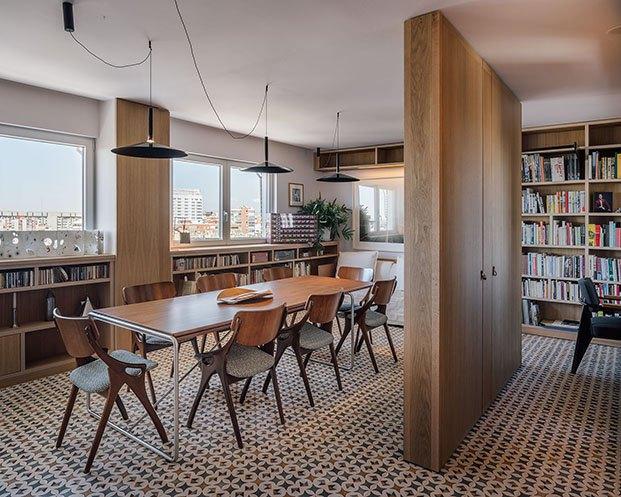 La vivienda familiar de diseño en Madrid cuenta con vistas privilegiadas