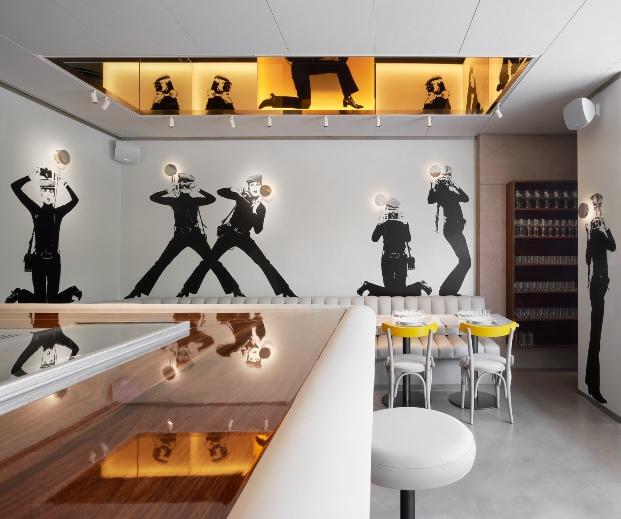 Restaurante Croma by Flash en Barcelona de Ivan Pomés Llamazares Pomés Arquitectura.