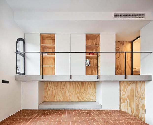 La casa Yurikago y sus espacios orientales, entreplanta y zona de estar.