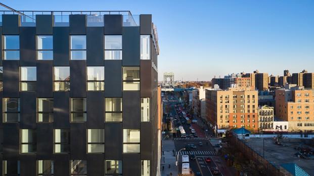 The Smile. Edificio de BIG en East Harlem, Nueva York