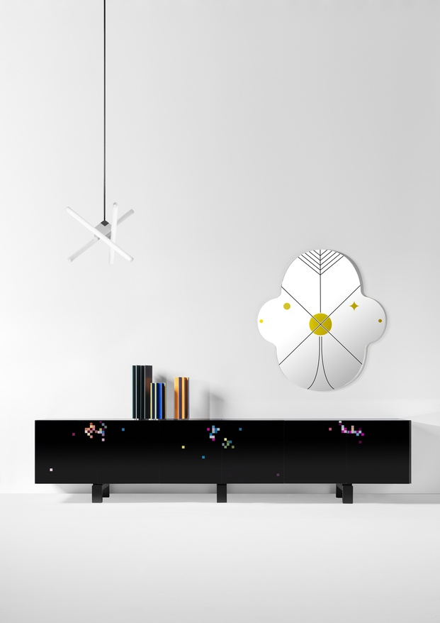 Zuzunaga cabinet Dreams All Black BD Barcelona Design