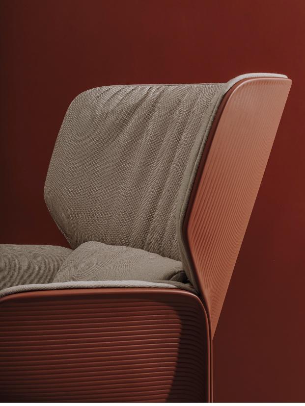 Butaca Nuez Lounge BIO de Patricia Urquiola para Andreu World.