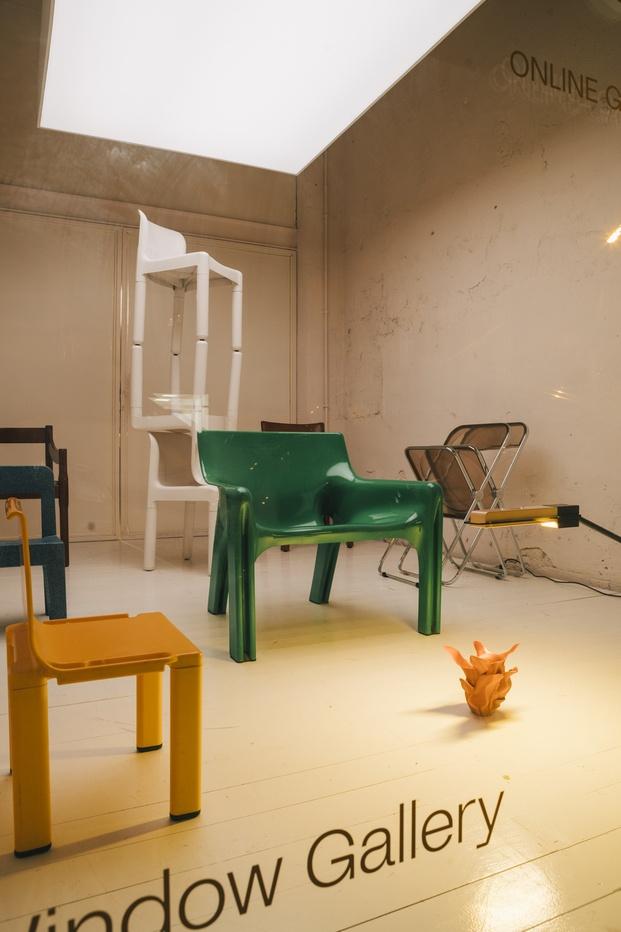 Good Goods galería virtual de iconos del diseño moderno por Stefano Colli. Window Gallery Acid House Barcelona.