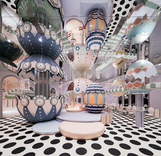 Loong Swim Club (Suzhou, China), por X+Living. Ganador categorías Colour y Asia Restaurant 2020
