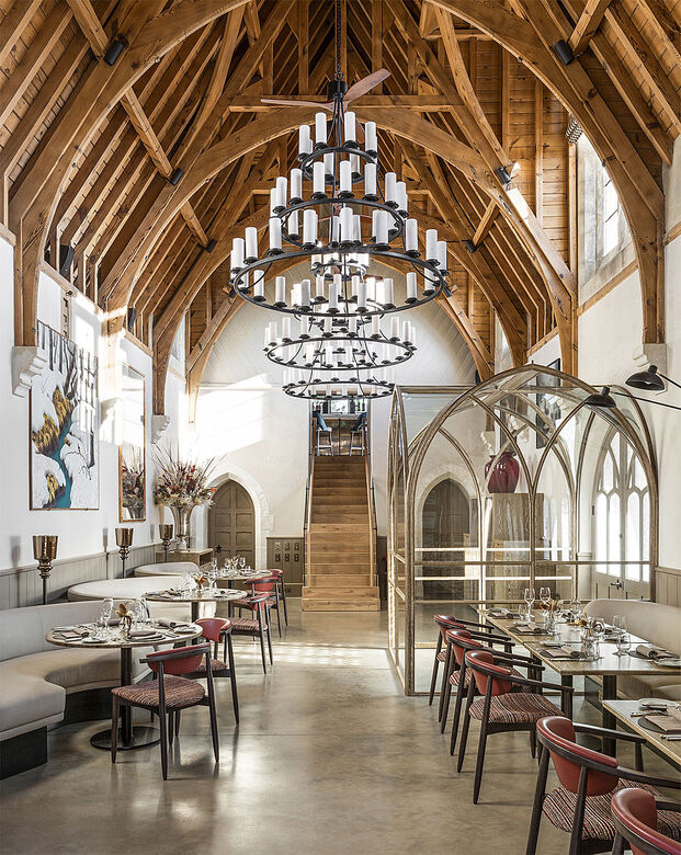The Clockspire (Sherborne, UK), por Studio Indigo. Ganador en las categorías Heritage Building y Overall UK Restaurant 2020