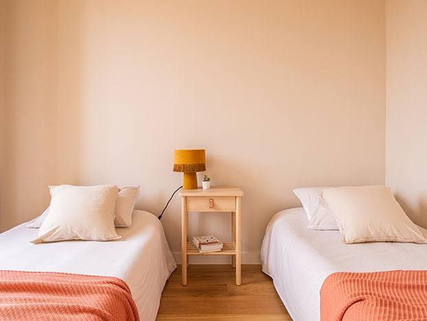 Vista de uno de los dos dormitorios dobles
