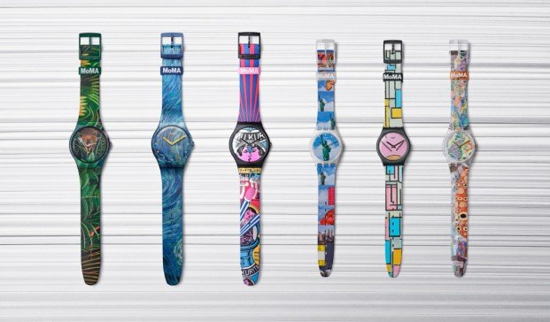 Co-branding Swatch + MoMA