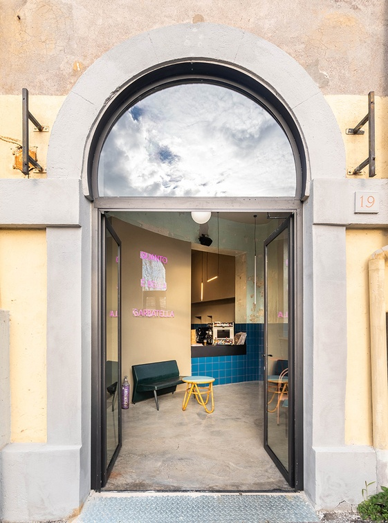 restaurante Tre de tutto n Roma. Diseño de STUDIOTAMAT. fotografía ©Seven H. Zhang