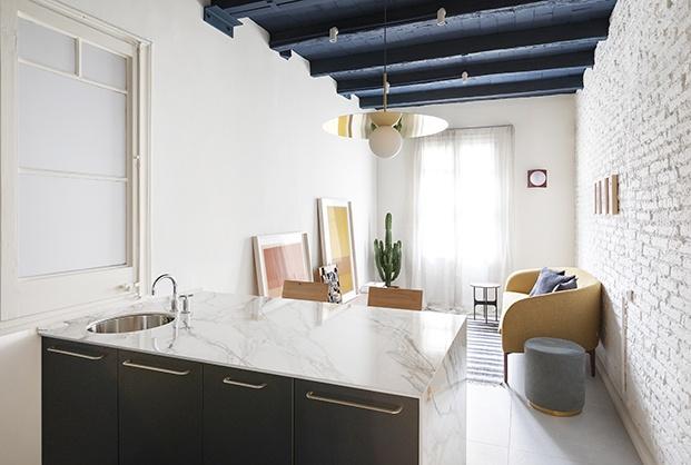 pequeña vivienda de 42 m2 en el Eixample barcelonés.