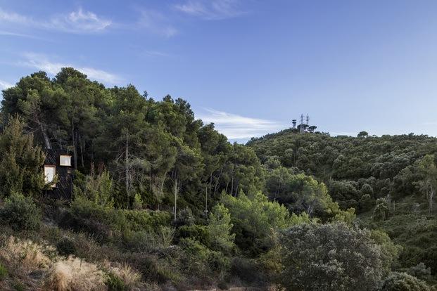 The Voxel cabaña ecológica para autoconfinarse en Collserola