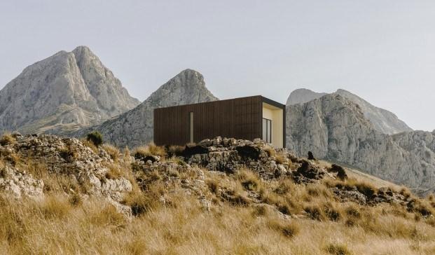 Casa prefabricada Liten. Cabaña sostenible y eficiente de Onarc.