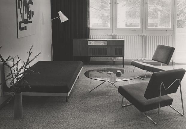 Sistema de pared-estantería MDW,  Rudolf Horn y Eberhardt Wüstner, 1967
