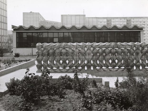 Muro de bloques de hormigón,  Karl-Heinz Adler y Friedrich Kracht, 1979/1981