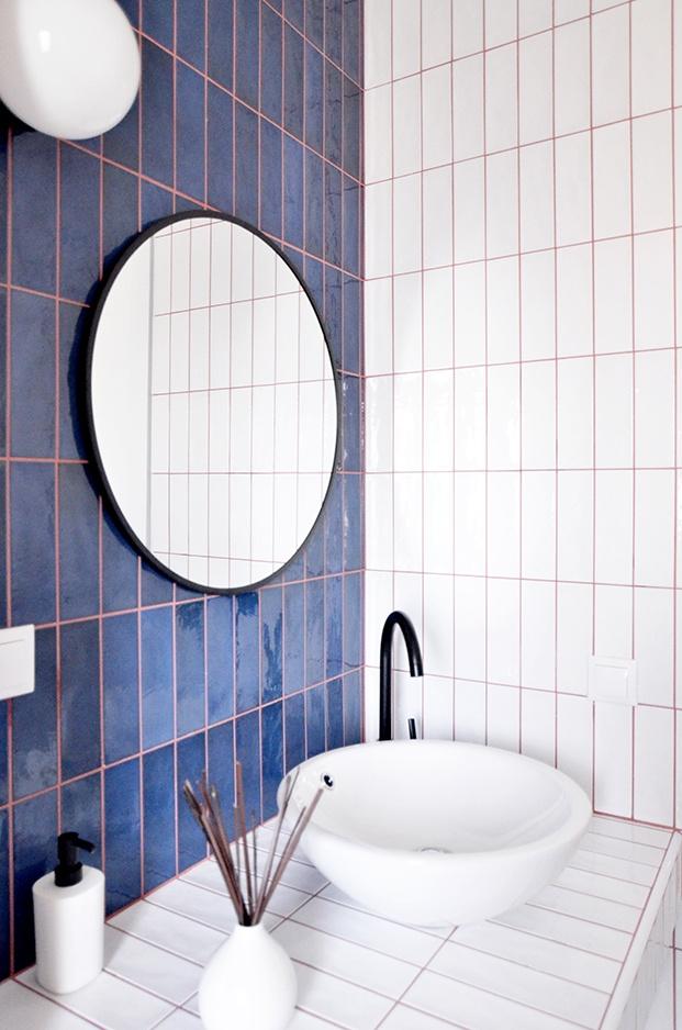 Detalle del cuarto de baño del apartamento en Madrid