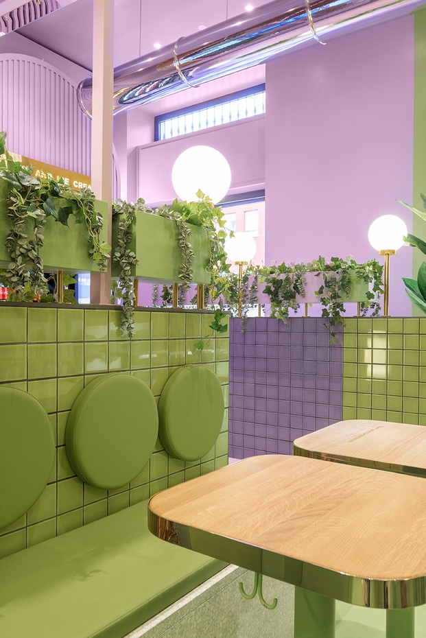 Masquespacio diseña el interiorismo de la hamburguesería Bun de Milán