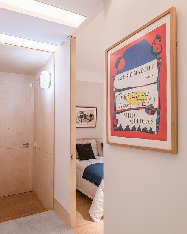 Otro de los dormitorios en la zona privada de la casa