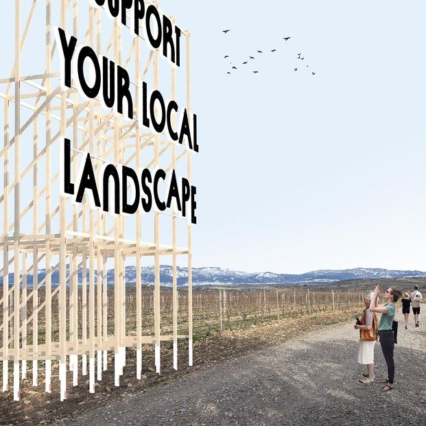 Viña Lanciano de Bodegas LAN: SUPPORT YOUR LOCAL LANDSCAPE, de Vivian Rotie y Pablo Saiz del Río (Cuba/España). Concéntrico 07