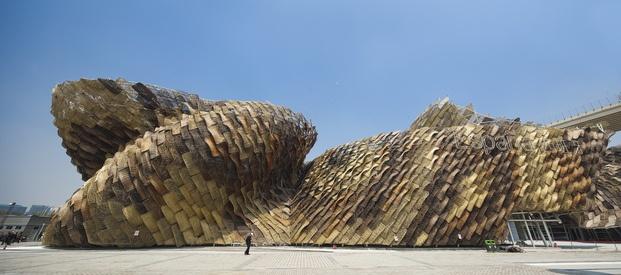 Homenaje a Enric Miralles. 20 años de su muerte. abellón de la Exposición de Shangai 2010  ©  Shen Zhonghai