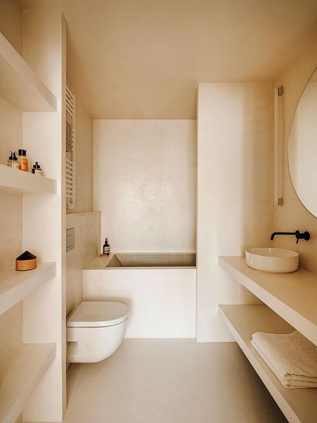 Top 10: diez baños modernos para coger buenas ideas. Microcemento