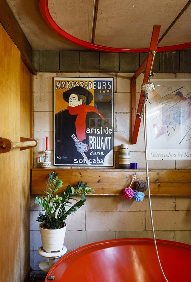 Detalle de la decoración del baño de la casa Mas-Ram de Alfons Soldevila
